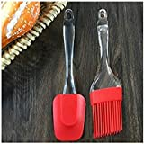 Wazdorf Silicone Spatula and Pastry Brush Set Special for Cake Mixer, Grilling, Tandoori, Cooking, Baking, Glazing, BBQ…