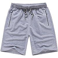 Pantalones de secado rápido Hombres Casual Boardshorts Holiday Loose Beach Shorts 4XL gris