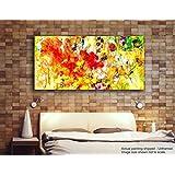 Tamatina Modern Art Canvas Paintings - Yellow Tulips - Abstract Paintings - Large Painting - Paintings For Living Room