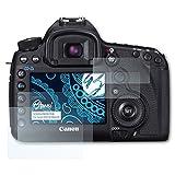 Bruni Canon EOS 5D Mark III Folie - 2er Set glasklare Displayschutzfolie Schutzfolie für Canon EOS 5D Mark III