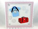 Grußkarte, Volleyball, Bälle, Tasche, Shirt und Knieschützer, ca. 15 x 15 cm