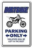 Decorativo Signs con refranes Dirtbike Crossbike Parking Sign Funny BMX bicicleta de carretera, bicicleta de carreras de pared, diseño con texto de aluminio Metal señal de seguridad