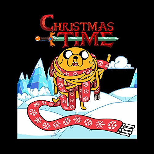 Adventure Christmas Time Jake Scarf Ice World Cartoon Network Women's Vest Black