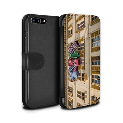 Stuff4 Coque/Etui/Housse Cuir PU Case/Cover pour Apple iPhone 7 Plus / Belles Chaussettes Design / Imaginer Collection Belles Chaussettes