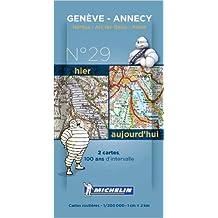 Pack 2 cartes hier/aujourd'hui Genève - Annecy Michelin (Anglais) de Collectif MICHELIN ( 16 novembre 2013 )