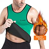 ELAIMEI Hot Sweat Vest für Männer, Sauna Tank Anzüge Taille Trainer Top für Gewichtsverlust, Neoprene Thermo Body Shaper Training Shirt Custom Made Extra Large (XL)