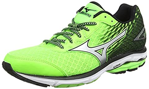 Mizuno Wave Rider 19, shoes Homme - Vert (Green Gecko/Silver/Black), 42 EU