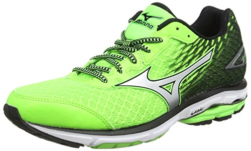 MizunoWave Rider 19 - Scarpe Running uomo, Green (Green Gecko/Silver/Black), 44