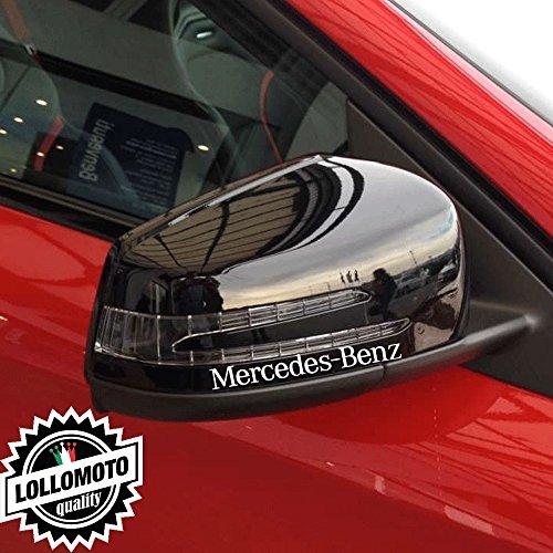 Kit 2 pz Adesivi Specchietti Retrovisori Mercedes Benz Stickers Auto Decal Intagliati Altissima Qualità - Grigio Chiaro Opaco