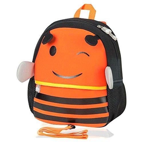 Kinderrucksack, Jenuther Animal Rucksack Kids Backpack Cute Cartoon Tier Rucksack Mini Schule Tasche for Kinder Baby Jungen Mädchen Kleinkind (A - Bee) (Bee-kleinkind-spielzeug)