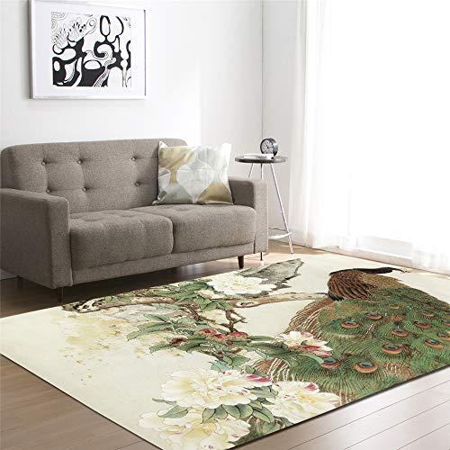 Weiche Moderne Pfau, Blau, Grün Wohnzimmer Teppich Schlafzimmer Für Kinder Spielen Solide Home Decorator Bodenmatte (Stil 7,99x152cm) ()