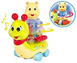 Amazing Stacking Rings with lights, music and bump and go snail - best baby birthday gift for 1 or 2 year boy girl kids child or 1 or 2 year old boy girl, Educational toys Learning toddlers Musical toys