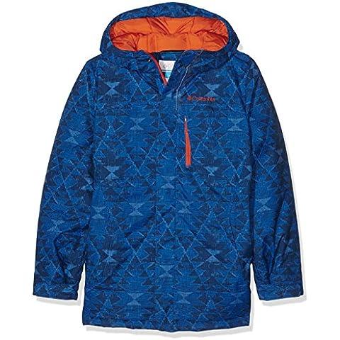 Columbia Alpine Free Fall–Chaqueta de esquí para niño Super Blue Print fr: XXS (talla fabricante: