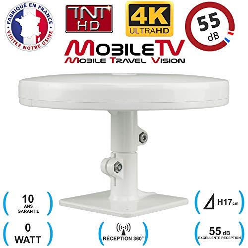 Antenne TNT HD 4K 55dB camping car / caravane / camion / fourgon / bateau / poids lourd Omnidirectionnelle OMNI PRO PLUS MobileTV - GARANTIE 10 ANS