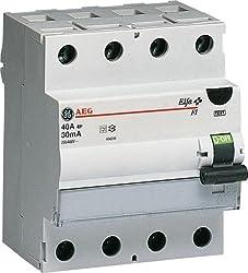 GE Fehlerstromschutzschalter 25A, 4-polig, 0,03A, 604.206