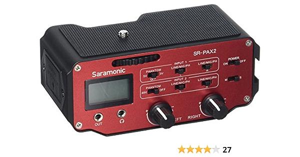 Saramonic Sr Pax2 Audio Adapter 2 Kanäle Für Dslr Kamera