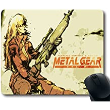 Custom PC game Mouse Pad with Metal Gear Solid(4) Non-Slip Neoprene Rubber Standard Size 9 Inch(220mm) X 7 Inch(180mm) X 1/8(3mm) Desktop Mousepad Laptop Mousepads Comfortable Computer Mouse Mat