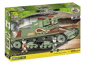 COBI- Tanque 7TP DW Tank, Color Verde, Negro y Marron (2512)