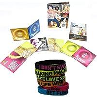 Preisvergleich für Zumba-Set Incredible Results Gewichtsverlust-Fitness-mit 8 DVDs + 6 Zumba Armbänder in versch. Farben und Sprüchen