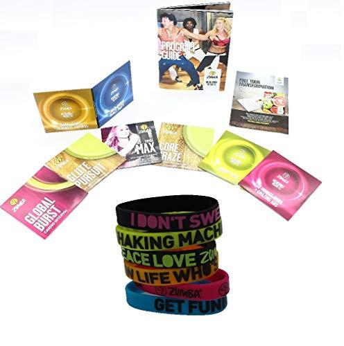 Zumba-Set Incredible Results Gewichtsverlust-Fitness-mit 8 DVDs + 6 Zumba Armbänder in versch. Farben und Sprüchen (Zumba-armband)