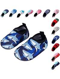 Laiwodun zapatos de niño Zapatos de agua de natación Niños Zapatos de niños descalzo Aqua calcetines para la piscina de playa Surf Yoga Unisex
