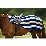 Equi-Theme Fleece Nierendecke Stripe navy, hellblau, beige, Größe (cm):150cm