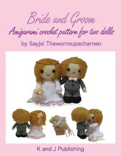Bride and Groom, Amigurumi crochet pattern for two dolls