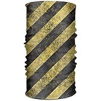 jiantsk Headwear Headband Stripe Yellow Black Head Scarf Wrap Sweatband Sport Headscarves for Men Women