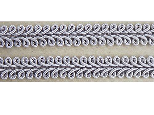 Borte-mit-Stil 2 m Posamentenborte Tracht 10mm breit Farbe: grau