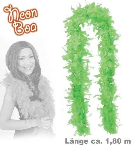 Fasching Karneval Federboa neon grün Boa 1.8 m (Truthahn)