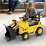 SOULONG Veicolo Cavalcabile per Bambini, Trattore Cavalcabile per Bambini, Trattori Escavatore Senza Pedali Pala dell'Escavatore Funzione Manuale con Corno, Pala dell'Escavatore Funzione Manuale
