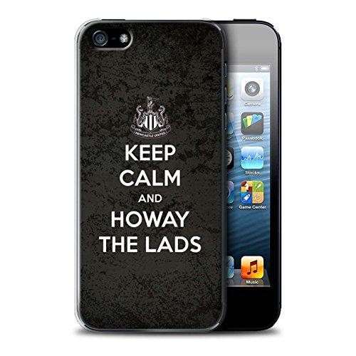 Officiel Newcastle United FC Coque / Etui pour Apple iPhone 5/5S / Soutien Design / NUFC Keep Calm Collection Howay Gars