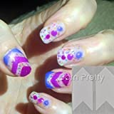 3pcs French Circle/Arrow/Fancy Manicure Tip Guides Strip Nail Art Toes # 4093