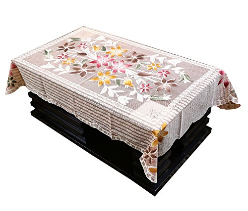 Kuber Industries™ Designer Center Table Cover Brown Cloth Net 40*60 Inches