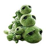Haodou Plüsch Schildkröte Puppe Große Augen Die Schildkröte Plüsch Tiere Spielzeug Cute Puppe Plüschtiere für Kinder - Grün(17.71'/ 45cm)