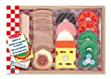 Melissa & Doug Wooden Sandwich-Making Pretend Play Food Set