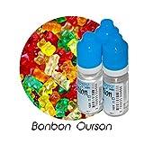 MA POTION - Lot de 3 E-Liquide Bonbon ourson, Eliquide Français Ma Potion, recharge liquide cigarette électronique. Sans nicotine ni tabac