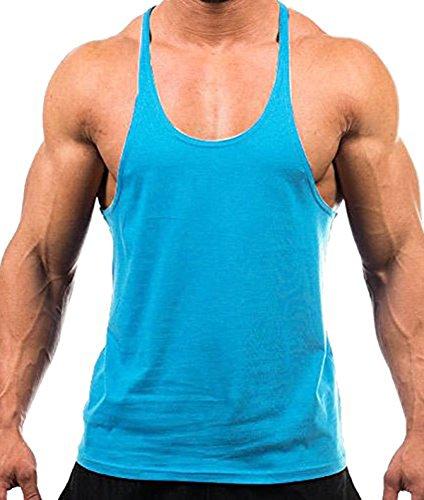 Uomo indù Blank allenamento Stringer Y Indietro Cotone Gym