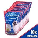 Silikat Katzenstreu von Catwell im Sparpack (10 x 5L), Halbperlen 100% biologisch