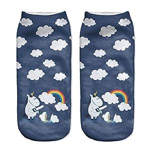 FANRUOM Socken Die lustige Socke der Emoji-Kunst druckt Kurze Söckchen mit kurzen Knöcheln