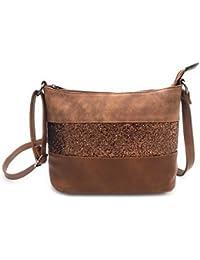 Gallantry Sac bandoulière femme/sac paillettes femme/sac porté épaule/Sac Strass