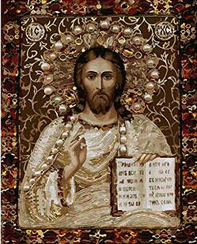 WYTCY Jesus Christus Der Allmächtige Malereifarbton Lords Durch Digitales Ölgemälde des Einzigartigen Geschenks Der Zahlen Für Wohnzimmer