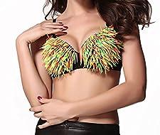 Sexy-Elements - se25145 - Sexy GoGo BH mit bunten Plastik-Fransen