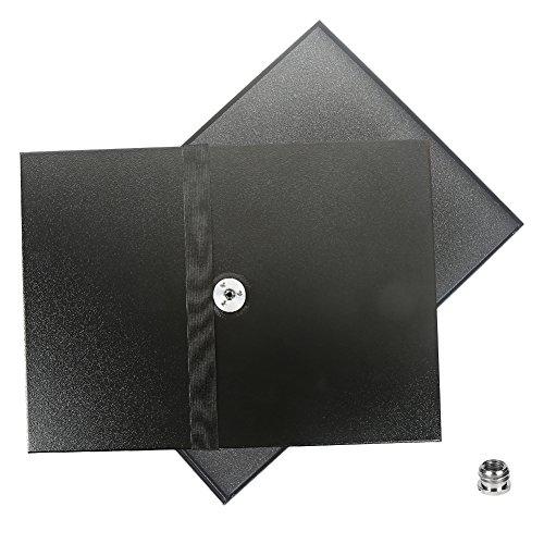 Projektor Tablett Halter Plattform Metall Palette für Laptop / Notebook / Projektor kompatibel mit 3/8 Zoll( 10mm)/ 1/4 Zoll (6mm) Schraube Stativ Ständer Halterung (15 Zoll-plattform)
