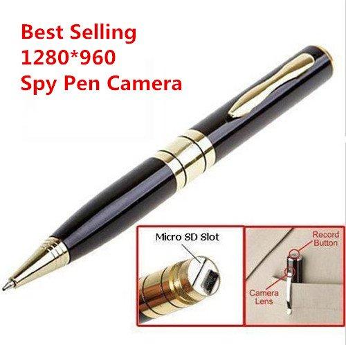 Electro-Weideworld - Bolígrafo con cámara de video espía 1280 x 960 Mini leva de la pluma cámara de vídeo USB DVR Grabación de Hidden