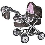 """Knorrtoys 71050 Maclaren """"Travel Mate Pram"""" - Coche de paseo para muñecas (altura ajustable de 53 a 71 cm), color marrón y rosa"""