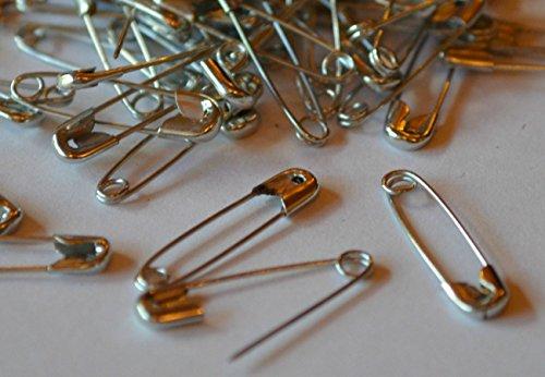 Spille da balia® Sicurezza Pin/1.000pezzi, 19mm, colore: argento