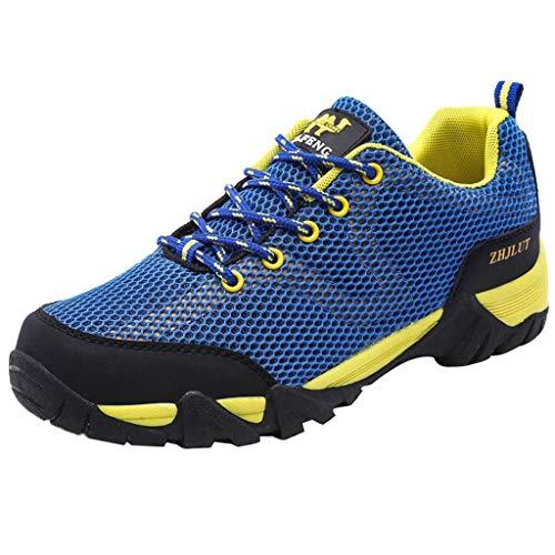 Bluestercool Scarpe da Trekking da Uomo Outdoor Low Top Professionale Antiscivolo Traspiranti da Esterno per Sneaker