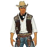Widmann wdm4300C–Kostüm für Erwachsene Weste Cowboy mit Bandana, braun, M