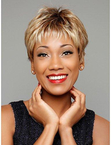 Perruques de mode Pratique et confortable sans colle bouclés perruque de cheveux courts de femmes à la mode pour les afro-américaine